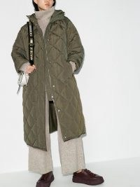 STAND STUDIO Sue quilted shell padded coat ~ green autumn / winter coats ~ casual outerwear