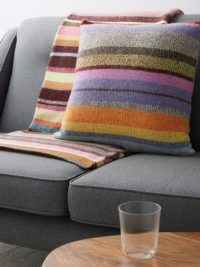 THE ELDER STATESMAN Super Soft striped cashmere cushion ~ multicoloured cushions ~ home accessories ~ soft furnishings