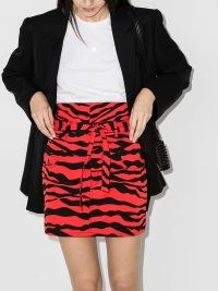 The Attico zebra-print mini skirt ~ glamorous animal prints ~ high waist skirts