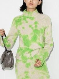 The Elder Statesman Yuma tie-dye jumper | high neck cashmere jumpers