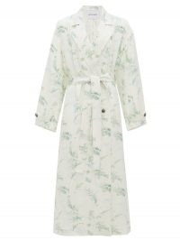 MICHELLE WAUGH The Jany double-breasted fern-print trench coat | elegant printed coats