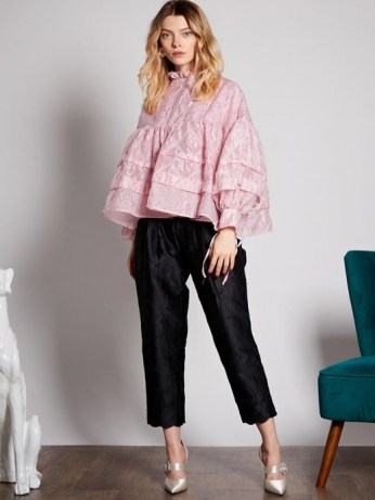 sister jane Ballroom Smock Blouse in cotton candy - flipped