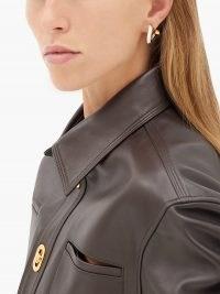 BOTTEGA VENETA Twisted 18kt gold-plated silver earrings | modern twist design jewellery