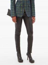 HAIDER ACKERMANN Varukers leather leggings ~ luxe skinnies ~ black skinny trousers