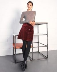 JIGSAW VELVET MINI SKIRT / A line skirts