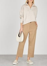 VINCE Camel cropped straight-leg trousers