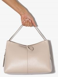 Wandler medium Ava tote bag / oyster-beige leather handbags / chic bags