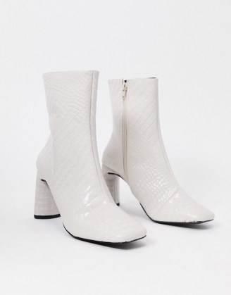 Z_Code_Z Reese vegan square toe boots in bone croc - flipped
