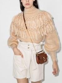 Zimmermann Lady fringed-detail jumper | luxe high neck fringe detail jumpers