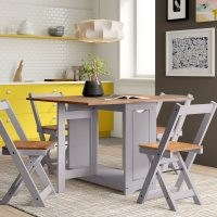 Leoma Folding Dining Set with 4 Chairs by Zipcode Design – Bring versatility and light into any dining area