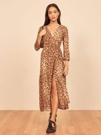 REFORMATION Alessandra Dress ~ wild cat print dresses