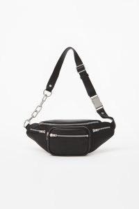 ALEXANDER WANG attica fanny pack / large black leather belt bags / designer bumbags / fanny packs