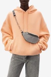 ALEXANDER WANG attica rhinestone mini fanny pack / embellished chain strap bumbags / designer fanny packs