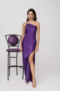 NASTY GAL All for One Shoulder Maxi Dress ~ purple occasion dresses