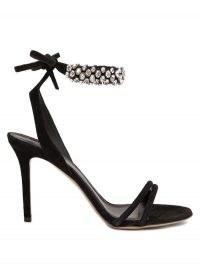ISABEL MARANT Alrina crystal-embellished suede sandals ~ glamorous black evening heels