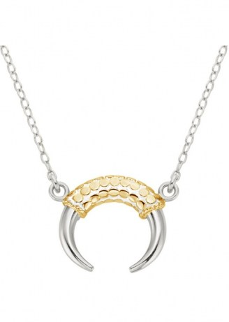 ANNA BECK HORN NECKLACE – SILVER & GOLD / pendants / jewellery
