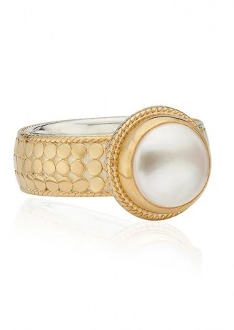 ANNA BECK REIMAGINED PEARL COCKTAIL RING – GOLD / boho jewellery / bohemian statement rings