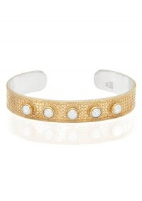 ANNA BECK REIMAGINED PEARL LARGE CUFF – GOLD / boho jewellery / bohemian cuffs