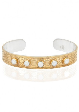 ANNA BECK REIMAGINED PEARL LARGE CUFF – GOLD / boho jewellery / bohemian cuffs