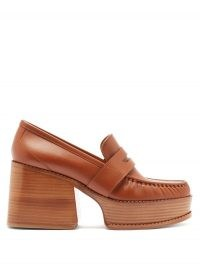 GABRIELA HEARST Augusta leather penny loafers | retro platform loafer