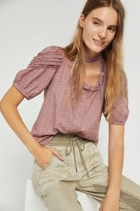 Forever That Girl Adina Cropped Blouse in Pink