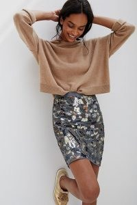 Maeve Marcella Sequined Mini Skirt ~ bead and sequin embellished skirts