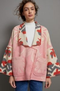 Anthropologie Heidi Kimono Jacket in Pink | dolman sleeve jackets