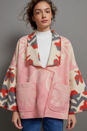 Anthropologie Heidi Kimono Jacket in Pink   dolman sleeve jackets