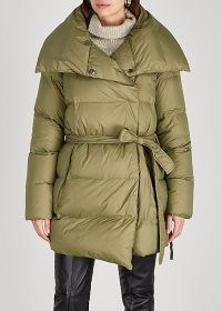 BACON Puffa 75 Superwalt olive quilted shell jacket ~ green puffer jackets ~ stylish padded winter coats