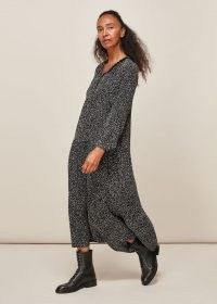 WHISTLES FRECKLE PRINT ENORA DRESS ~ relaxed fit dresses ~ effortless style clothing