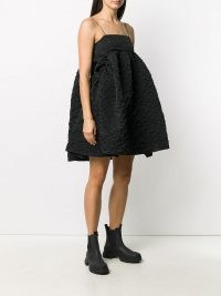 Cecilie Bahnsen flared oversize dress | fashion with volume | skinny strap LBD | voluminous dresses