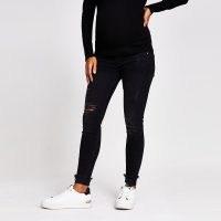 River Island Black denim Amelie maternity jeans | pregnancy fashion | ripped | distressed
