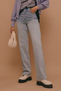 Topshop Bleach Kort Parallel Jeans | bleached denim | high rise | straight leg