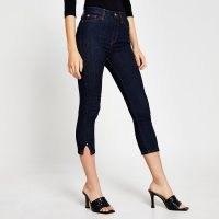River Island Blue high rise cropped denim jeans