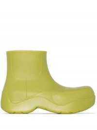 Bottega Veneta BV Puddle ankle boots in kiwi green / rubber booties