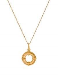 SAINT LAURENT Buoy-pendant necklace / nautical inspired necklaces / round pendants