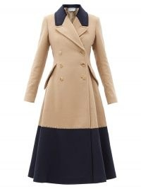 GABRIELA HEARST Cantwell double-breasted cashmere coat / colour block fit and flare winter coats / colourblock outerwear