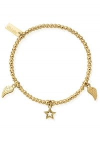 CHLOBO COSMIC CONNECTION EVERYDAY SEEKER BRACELET – GOLD / charm embellished bracelets