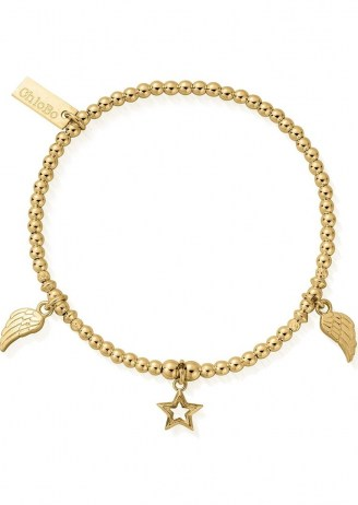 CHLOBO COSMIC CONNECTION EVERYDAY SEEKER BRACELET – GOLD / charm embellished bracelets