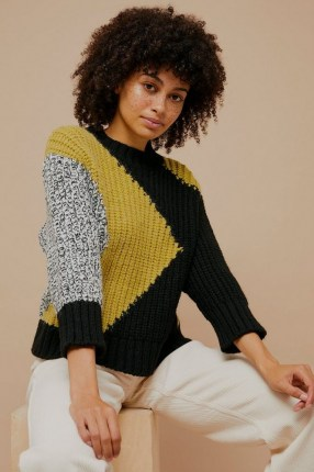 Topshop Chunky Abstract Knitted Jumper | contemporary patterned jumpers - flipped