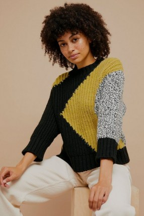 Topshop Chunky Abstract Knitted Jumper | contemporary patterned jumpers
