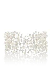 Anabela Chan Constellation 18K White Gold Vermeil Pearl, Diamond Choker / statement chokers