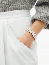 ISABEL MARANT Crystal bracelet / oval crystals / luxe style bracelets