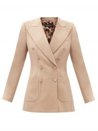 DOLCE & GABBANA Double-breasted cashmere jacket ~ Italian tailored jackets