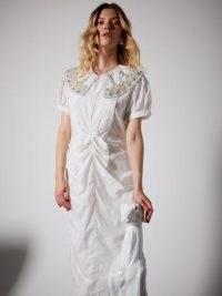 sister jane Seniors Embellished Midi Dress – oversized collars – romantic look dresses