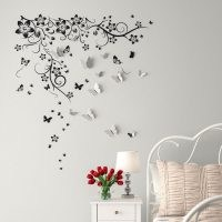 New Huge Butterfly Vine and 3D Mirror Butterflies Sticker by East Urban Home – wall stickers