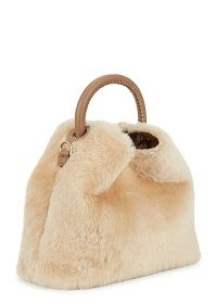 ELLEME Baozi cream shearling and leather cross-body bag / fluffy fur crossbody bags / winter accessories