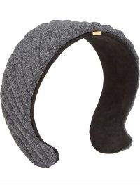 Fendi grey quilted headband | designer headbands | hair accessories