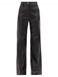 GUCCI Flared leather trousers in black ~ luxe flares