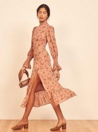 REFORMATION Galena Dress Arianne ~ high neck smock detail dresses